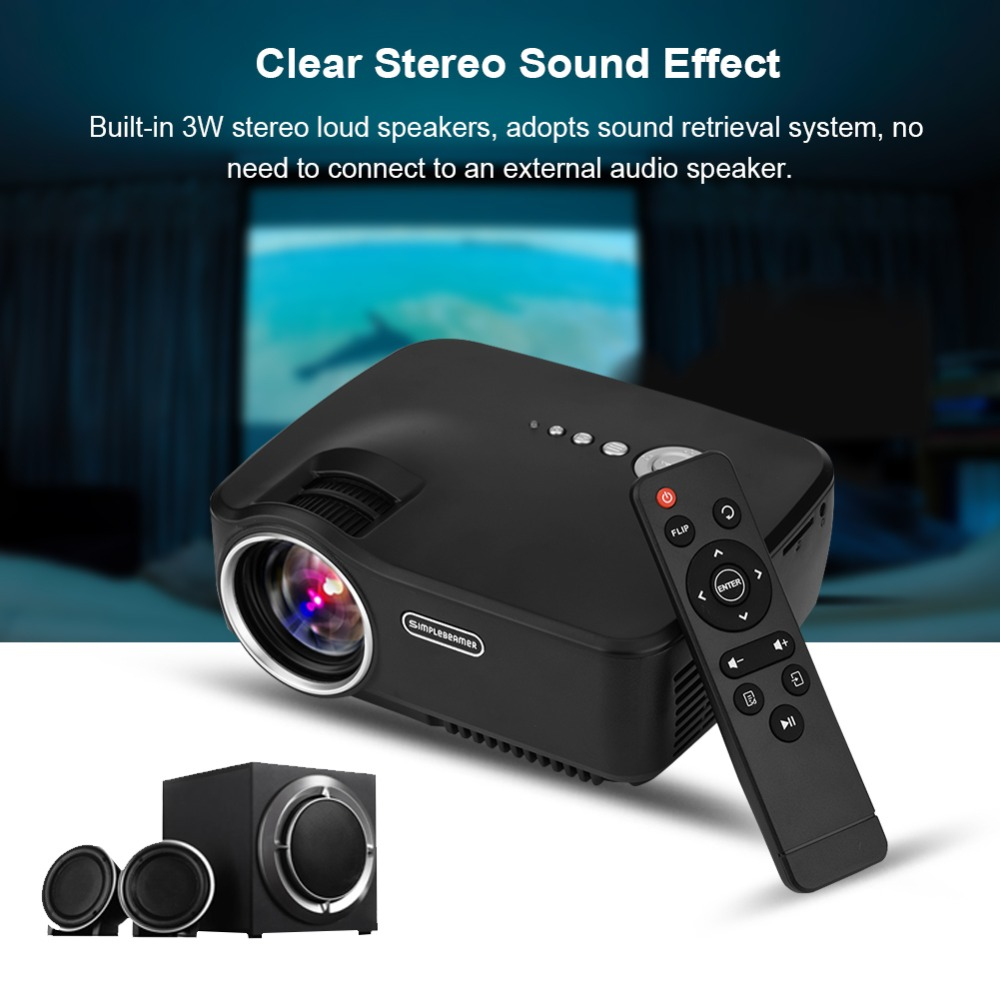 Mini LED Projector Home Theater Portable Projector Video HDMI USB AV VGA SD Full HD 1080P Displaying Cinema Proyector UK Plug hot selling mini home cinema mini portable 1080p 3d hd led projector multimedia home theater usb vga hdmi tv