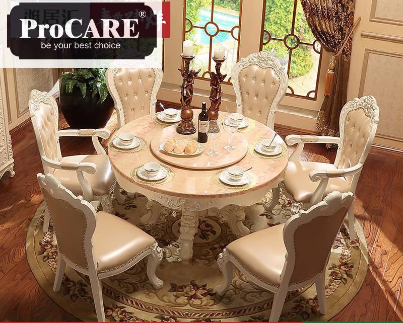 Mesas talladas a mano clásicas de madera maciza real muebles ...