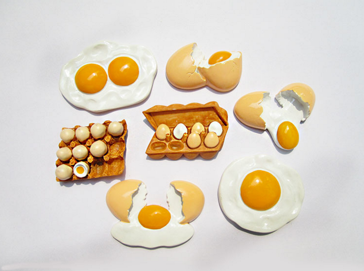1 Pcs New Arrivals Cute Artistic Meals Form Fridge Magnets Cute Eggs fashion Ornamental Fridge Memento Sticker House Decor HTB17CdfbwDD8KJjy0Fdq6AjvXXaa