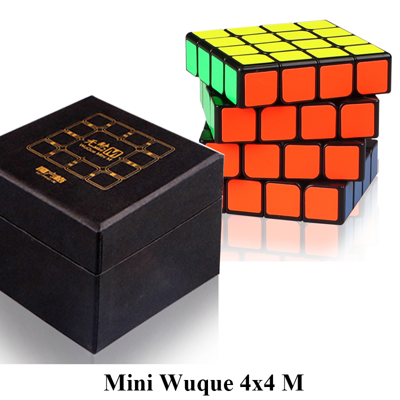 Mofangge 60mm Mini Wuque M 4x4x4 Magnetic Magic Cube 4layer Qiyi Wuque Mini Speed Cube For WCA Toys Children Kids qiyi mofangge valk3 power m magnetic 3x3x3 speed magic cube for wca professional toys for children valk 3 puzzle cube