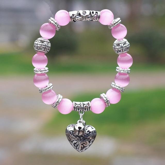 Bracelet Quartz Rose Argent