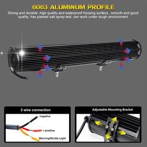 Image 4 - Projecteur combiné de travail LED 20 pouces, lampe LED tout terrain bars, faisceau bleu/rouge 12/24V, pour camions, tracteurs, UAZ ATV, SUV MPV 4x4