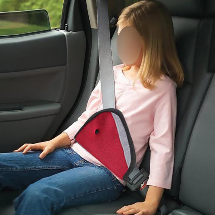 Red Car Child Safety Cover Shoulder Harness Strap Adjuster Kids Seat Belt Clip Child Resistant Safety Belt Protect CS182
