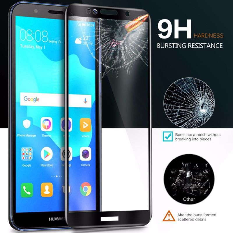 Full Cover 9H Tempered <font><b>Glass</b></font> For <font><b>huawei</b></font> <font><b>Y6</b></font> pro Y7 prime <font><b>2018</b></font> Y9 p20 lite Pro plus P smart Honor v10 View10 7C 7X <font><b>Protective</b></font> Film image
