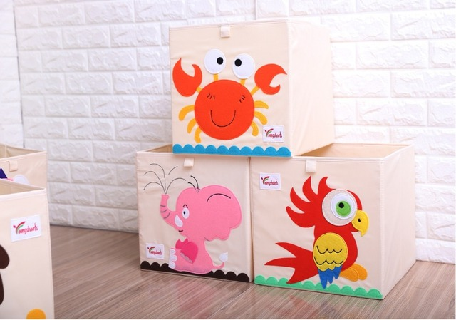 Kids Toys Storage Square Box  – Animals