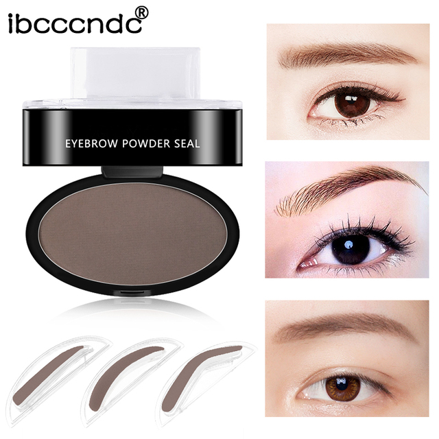 New Natural Arched Eyebrow Stamp Powder Delicate Palette Eyebrow