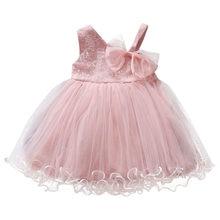 Dziewczęce bez rękawów solidne tiulowe kwiatowe Sukienki księżniczki 2019 letnie Sukienki dziecięce Sukienki dziecięce A1