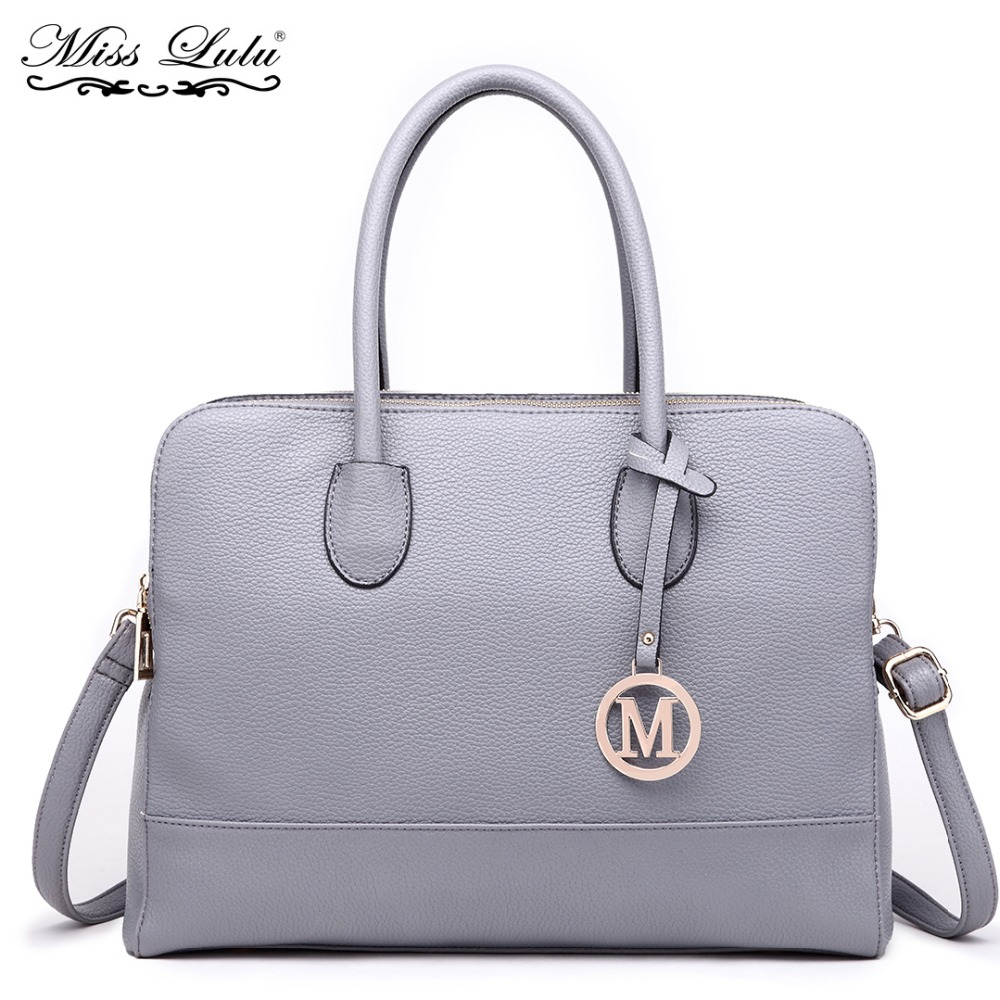 Miss Lulu Brand Women Laptop Shoulder Bags Handbags Female Leather Ladies  Fashion Large Tote Cross Body c0be0ff9444b9