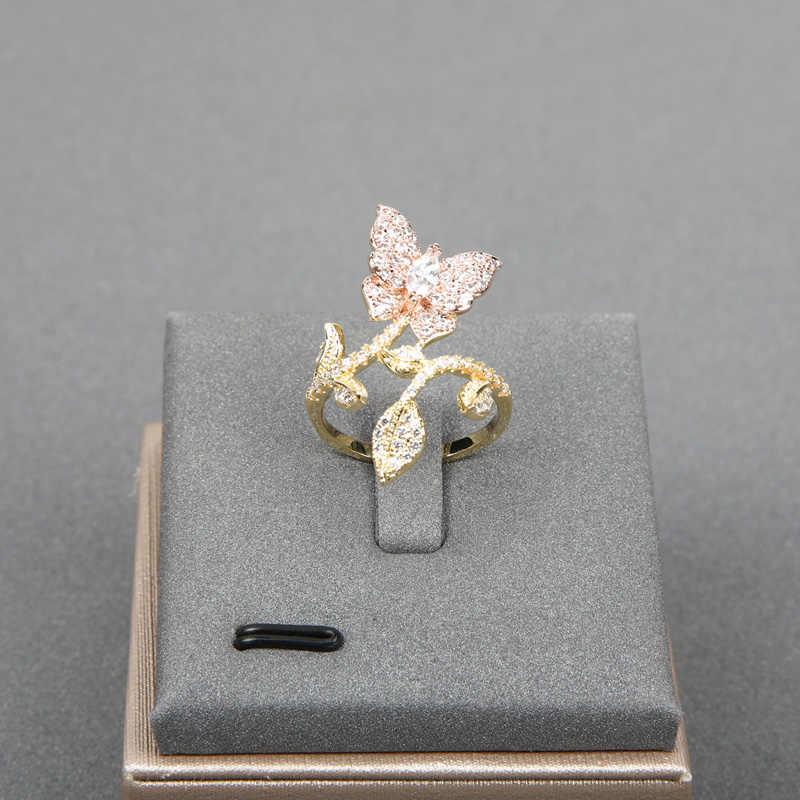 Dazz роскошный комплект ювелирных изделий в африканском стиле из циркона с бабочкой, женское свадебное платье, индийское кольцо невесты, Набор браслетов, подарки 2019