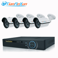 TIANANXUN 4CH CCTV System 720P 8CH AHD DVR 4PCS 1 0MP Camera Outdoor Night Vision Security