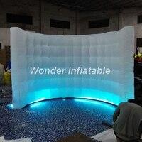 3x2 м маленькая надувная светодиодная настенная портативная надувная фотобудка, Фотофон для фото стенка для свадьбы