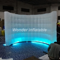 3x2m small inflatable led wall portable inflatable photo booth backdrops photo booth wall for wedding