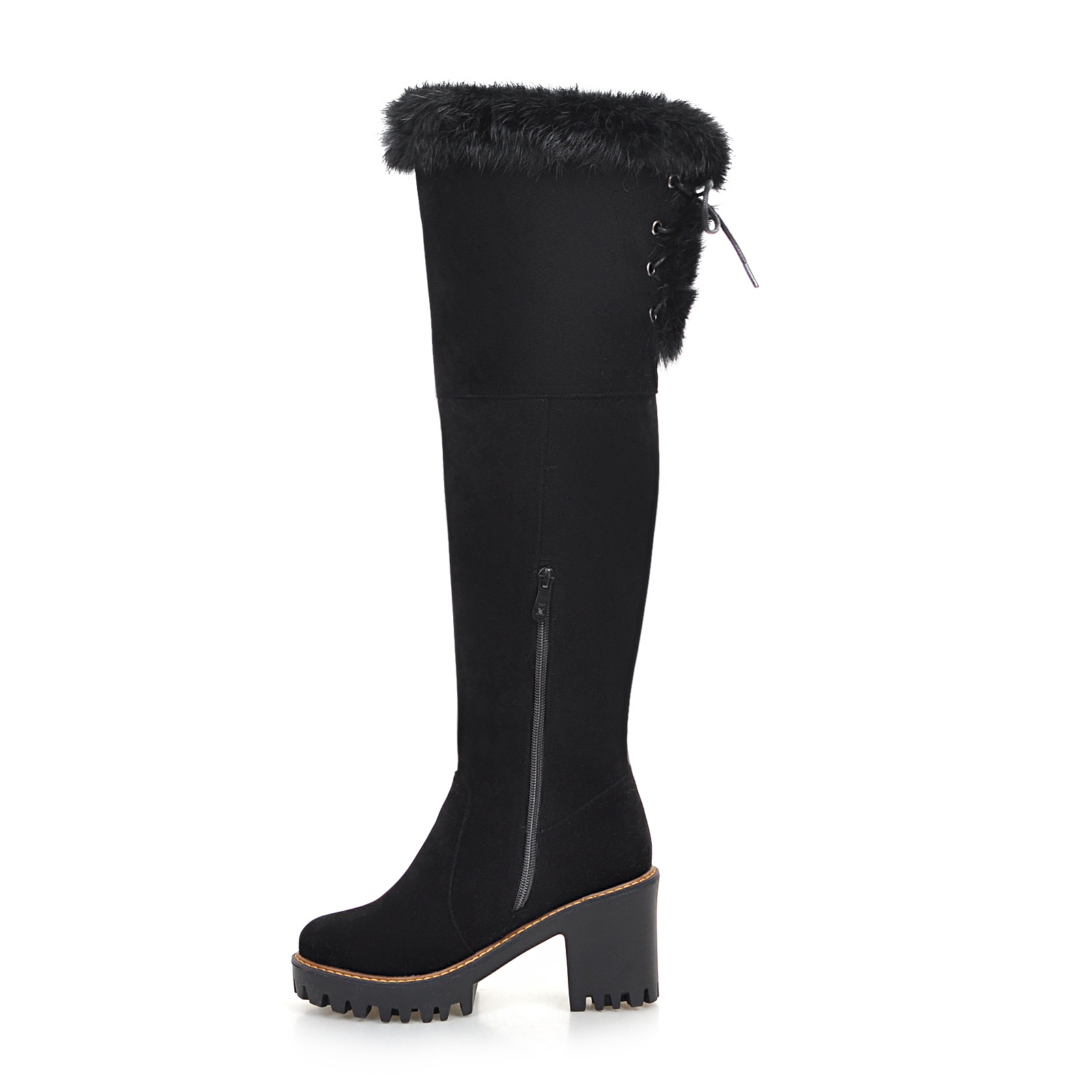 b9da356ff9d 2019 New Women Over The Knee High Snow Boots Woman 8cm Thick High ...