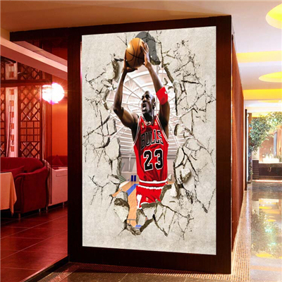 Aliexpress com Buy 3 d background wallpaper porch NBA basketball star  Michael Jordan gym self adhesive. Michael Jordan Bedroom