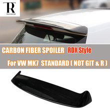цены MK7 RDX Style Carbon Fiber Rear Roof Wing Spoiler for Volkswagen VW Golf 7 VII MK7 Standard 2014 2015 2016 ( not fit GTI & R )