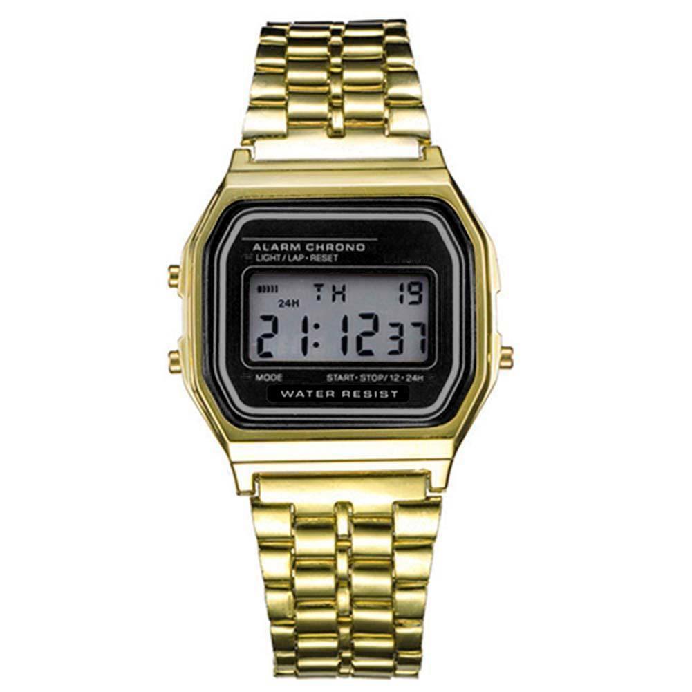 New Business Men Retro Watch Electronic Watch Fashion Personality's Watch Thin Strip Relogio Masculino Digital