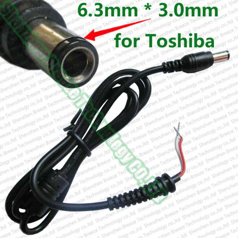 100 шт. завод прямые поставки + Качество 6.3x3.0 мм 6.3 3.0 мм ремонт DC разъем с кабель для Toshiba AC ноутбук шнур