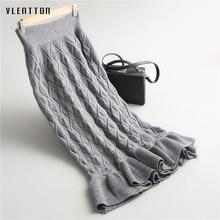 High Quality Winter Knit Wear Bodycon Skirt Mermaid SlimTight Waist Wrap Hips Long Skirts Ruffles faldas feminina saia