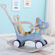 Baby Rocking Chair Horse Wooden Multifunctional Musical Ride On Toys