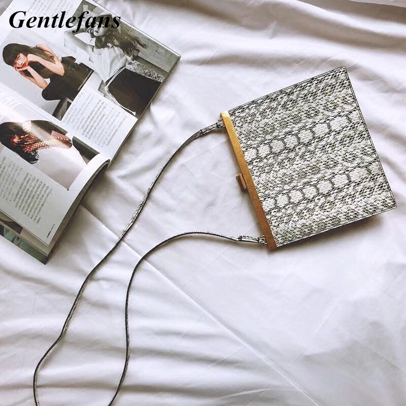 Factory Price Fashion Envelope Clutch Bag Casual Crossbody Bag Gray Snakeskin Pattern Bags Top quality Special Lady's Bags