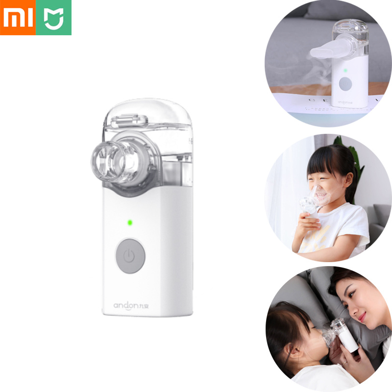 Xiaomi Andon Nebulizer Mini Portable Silent Atomizer Handheld 0 2ml min Rate Asthma Respirator Humidifier For