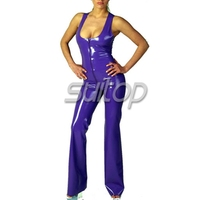 low cut sexy rubber catsuit latex teddies woman