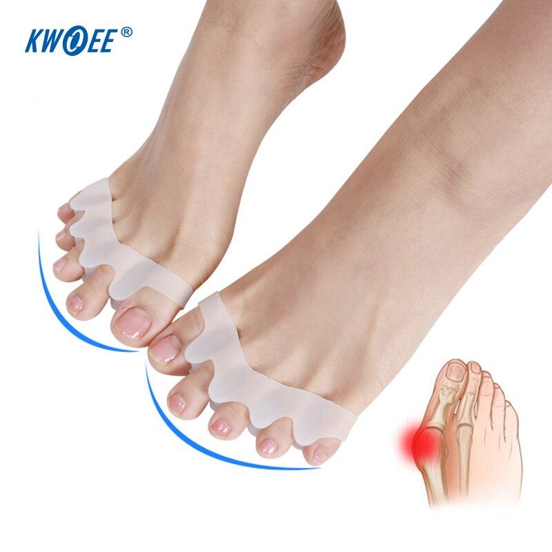Haut Pflege Werkzeuge 1 Paar 2 Farben Toe Separator Hallux Valgus Zehen Überlappenden Trennung Zehen Rehabilitation Korrektur Orthesen Yoga Bedarfs Fußpflege-utensil