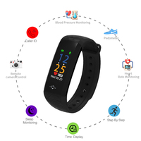 SANDA Bluetooth Smart Wristband Band Blood Pressure & Heart Rate Monitor Fitness Waterproof Bracelet Smart Pedometer Watch M12P