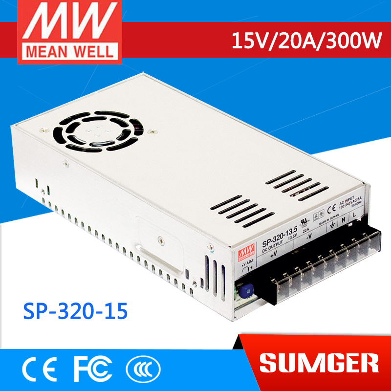 [Sumger2] MEAN WELL original SP-320-15 15V 20A meanwell SP-320 15V 300W Single Output with PFC Function Power Supply [mean well1] original epp 150 15 15v 6 7a meanwell epp 150 15v 100 5w single output with pfc function