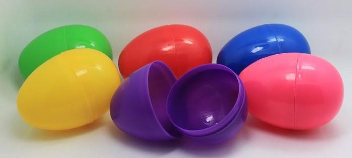 Красочные пасхальные яйца 8X5.5 см большой Яйцо Box держатель цвета смешанные 30 шт./компл. пластиковые яйцевидной формы коробки
