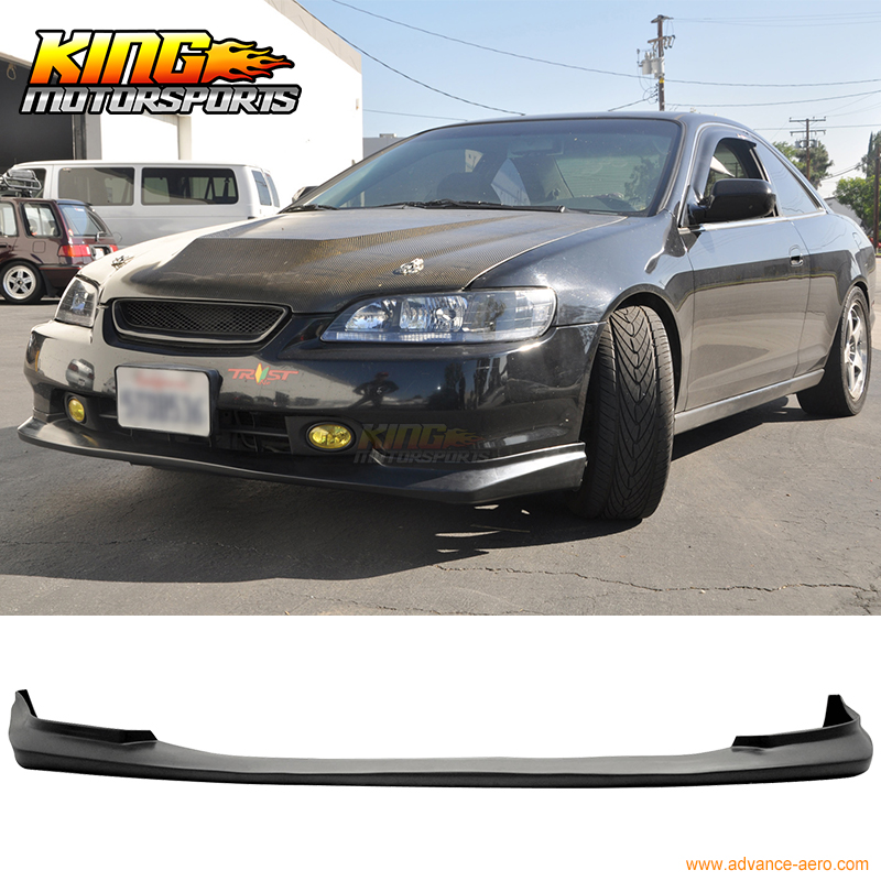 fit 98 99 00 honda accord coupe 2dr pu front bumper lip spoiler jdm style