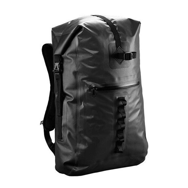 32L bolsa de Trekking de río al aire libre bolsa seca doble correas de hombro Paquete de agua mochila de natación bolsas impermeables para kayak a la deriva