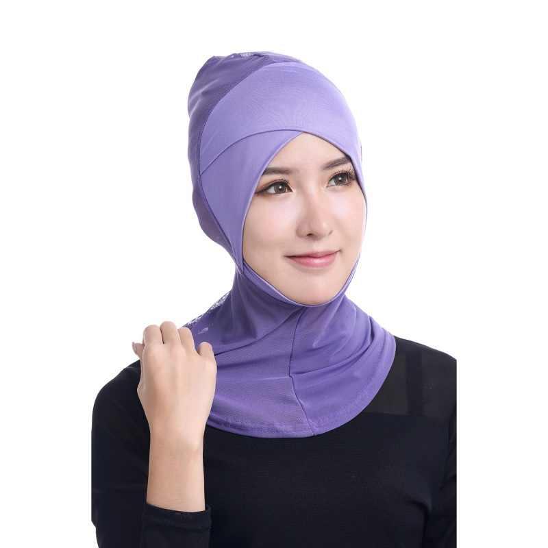 Лоскутное Для женщин шарф хиджабы исламский шеи крышка капота полное покрытие Внутренняя Хиджаб Кепки леди Головные уборы Bone капот мусульманин хиджаб