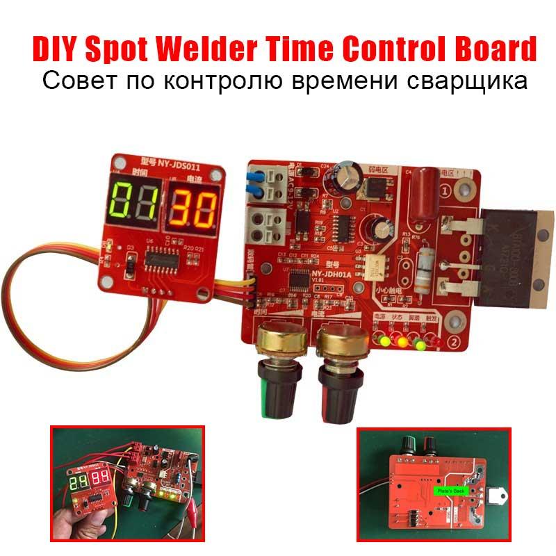 DIY Placa de Controle do Tempo 40A/100A para Soldador Local Atualização Atual Controlador com Display Digital Máquina de Soldador Local Da Bateria