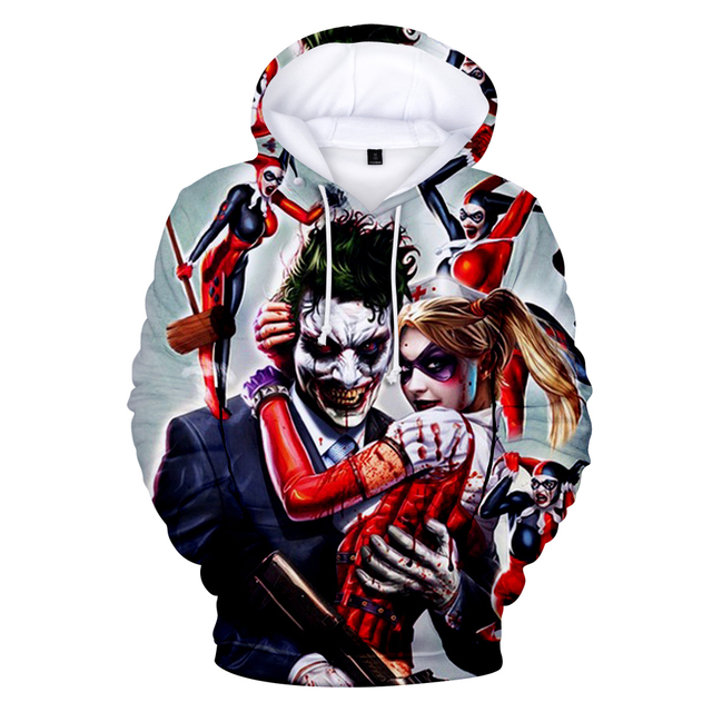 Joker 3D Print Sweatshirt Hoodies Men and women Hip Hop Funny Autumn Street wear Hoodies Sweatshirt For Couples Clothes 3