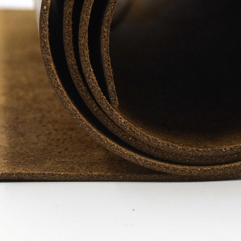 Piel natural cuero de vaca crazy horse color cuero genuino para costura para cintur/ón buena calidad muchos tama/ños color marr/ón