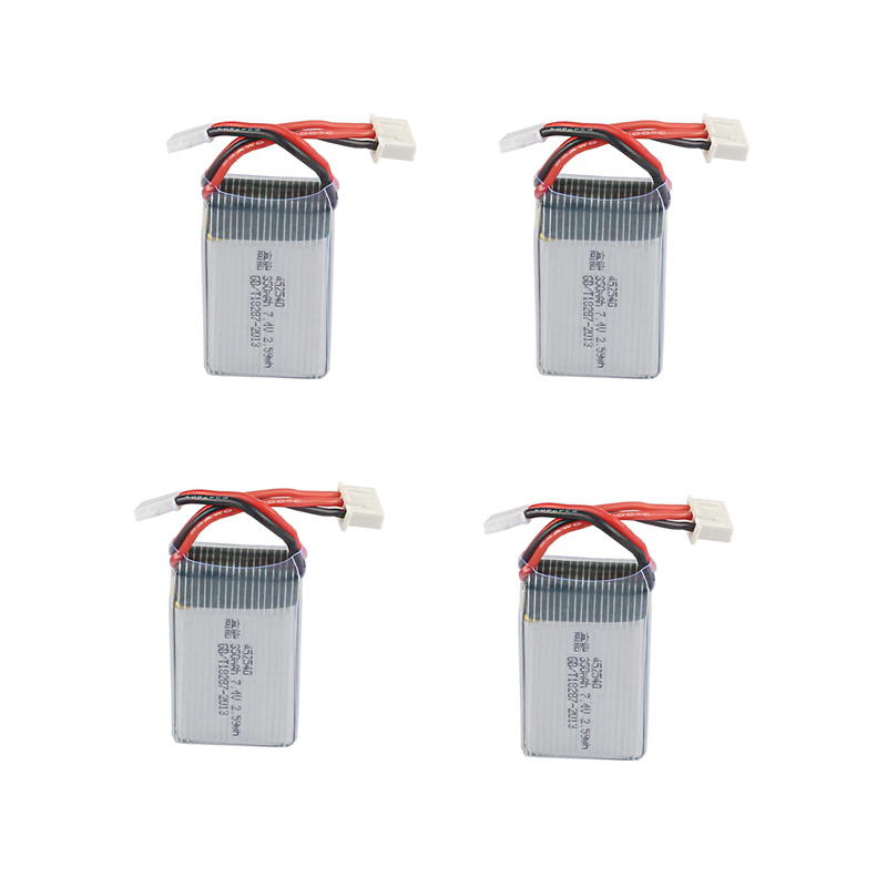 4pcs * 7.4V 350mAh 35c Lipo Battery for JXD 515W 515V 515 RC Quadcopter Drone ...