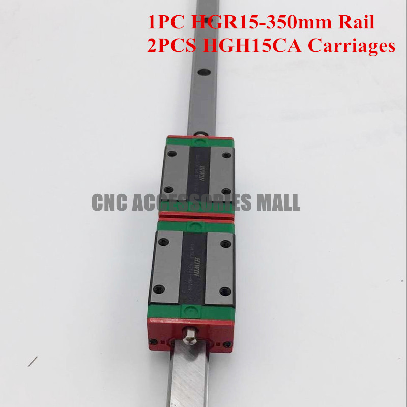 Original HIWIN HGR15 L 350 mm linear guide rail with 2pcs HGH15CA narrow sliding block original hiwin linear guide hgr15 l600mm rail 2pcs hgh15ca narrow carriage block