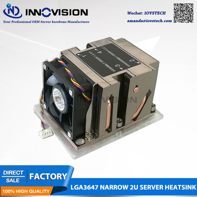 LGA3647 narrow 2u heatsink for 2u/ 3u/4u/workstation server thermal CPU cooler 3647-2UCAN 1u 2u 3u 4u rackmount dg4565f server chassis rails