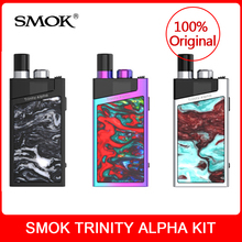 Original SMOK Trinity Alpha Kit built in 1000mAh Battery with pod 2.8ml Nord Mesh MTL Coil Electronic Cigarette Pod System vape original smok trinity alpha kit built in 1000mah battery with pod 2 8ml nord mesh mtl coil electronic cigarette pod system vape