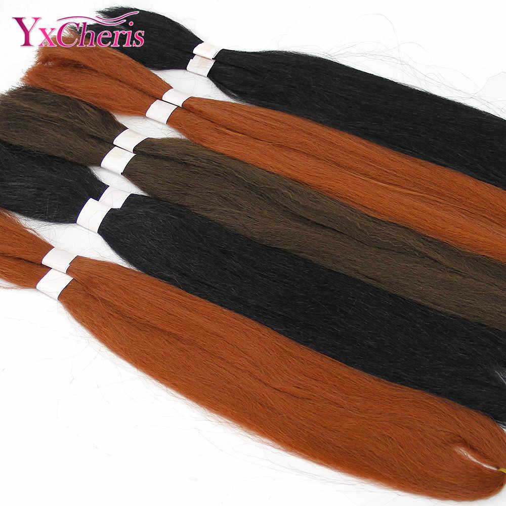 Extensiones de Cabello Jumbo sedoso 26 pulgadas 60G de pelo sintético para trenzar la caja trenzas pelo a granel