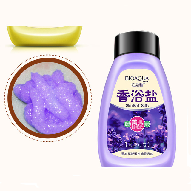 Lavender Bath Salts Skin Cleanse  Detox Stress Reliever Body Care Pure Natural Rich In Vital Healing Minerals Aromatherapy 1