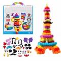 2016 Pelotas mágicas apilables de 400 piezas, 1000 accesorios para armar, mega pack animal para ensamblar DIY, mejor set dr juego de bloques para niños