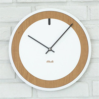 Modern Pine Wood Wall   Clock   Vogue Unique Round European Minimalist Superior Graceful Artistic Silently   Clock   for Cafe Home Decor