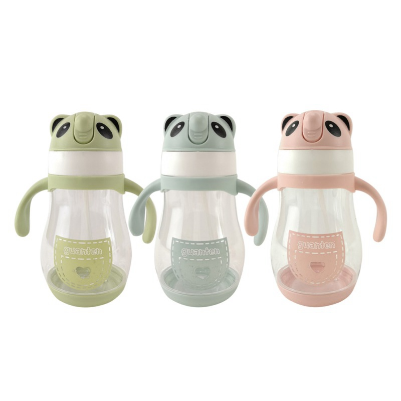 Baby's Learning Drinking Water Cup Feeding Sippy Cups With Handles And Strap Newborns Kids Cute Cartoon Leakproof Cup