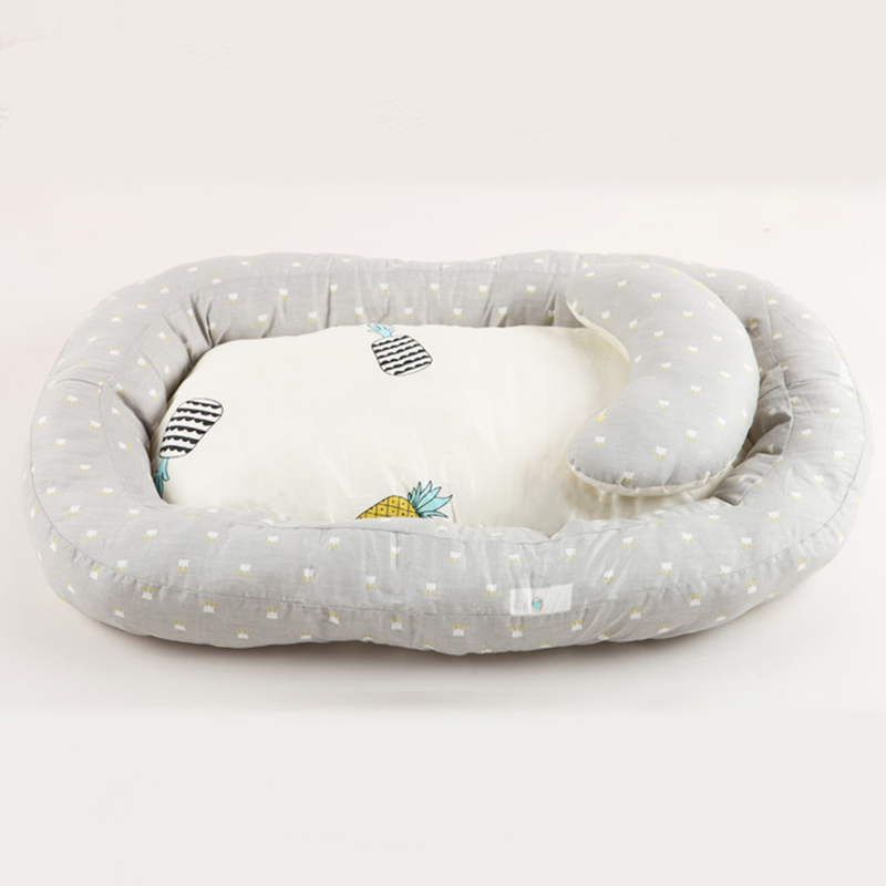 Newborn Baby Portable Crib Travel Bed Nest Bed Infant Toddler Cotton Cradle For Kids Bassinet Bumper Bed 3pc/Set