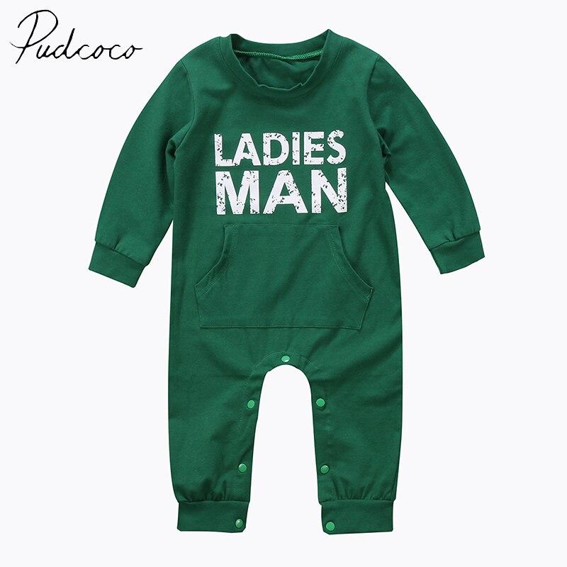 PUDCOCO  Brand Cotton Blend Toddler Kid Baby Clothes Boy Cotton Romper Jumpsuit Body Suit Clothes Outfit Set US Stock 6M-24M 2pcs set baby clothes set boy