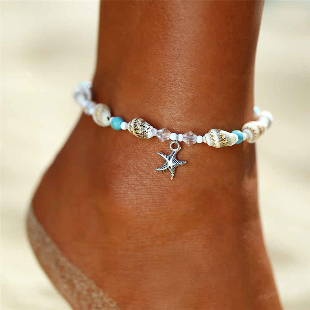 Vintage Shell Beads Anklets For Women New Multi Layer Anklet Leg Bracelet Bohemian Beach Ankle Chain Jewelry Gift 2019