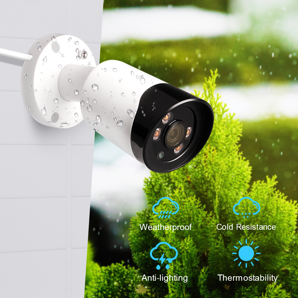 LOOSAFE 1080P HD Mini Bullet Outdoor Waterproof  POE IP Camera Home Surveillance  Colorful Day and Night CCTV Camera Network CamLOOSAFE 1080P HD Mini Bullet Outdoor Waterproof  POE IP Camera Home Surveillance  Colorful Day and Night CCTV Camera Network Cam
