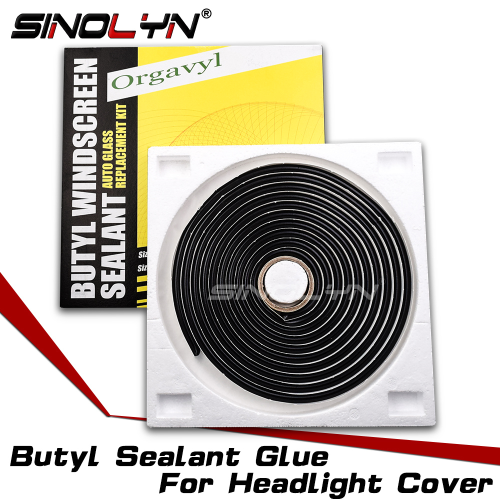 Sinolyn Headlight Sealant Black Snake Butyl Speaker Windscreen Adhesive Rubber Glue For Sealing Auto Headlamp Cover DIY Retrofit